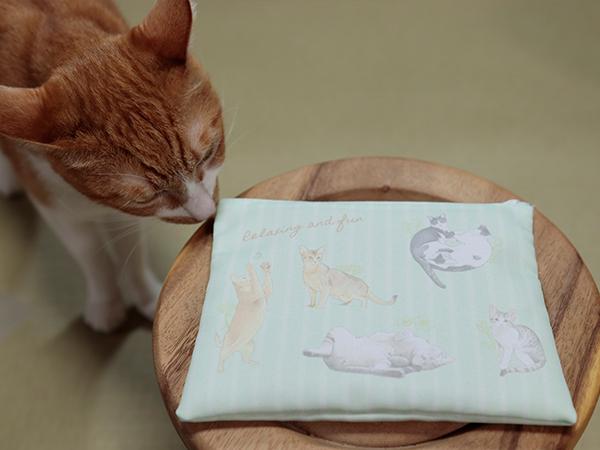 12匹の猫フルカラーファスナーポーチ