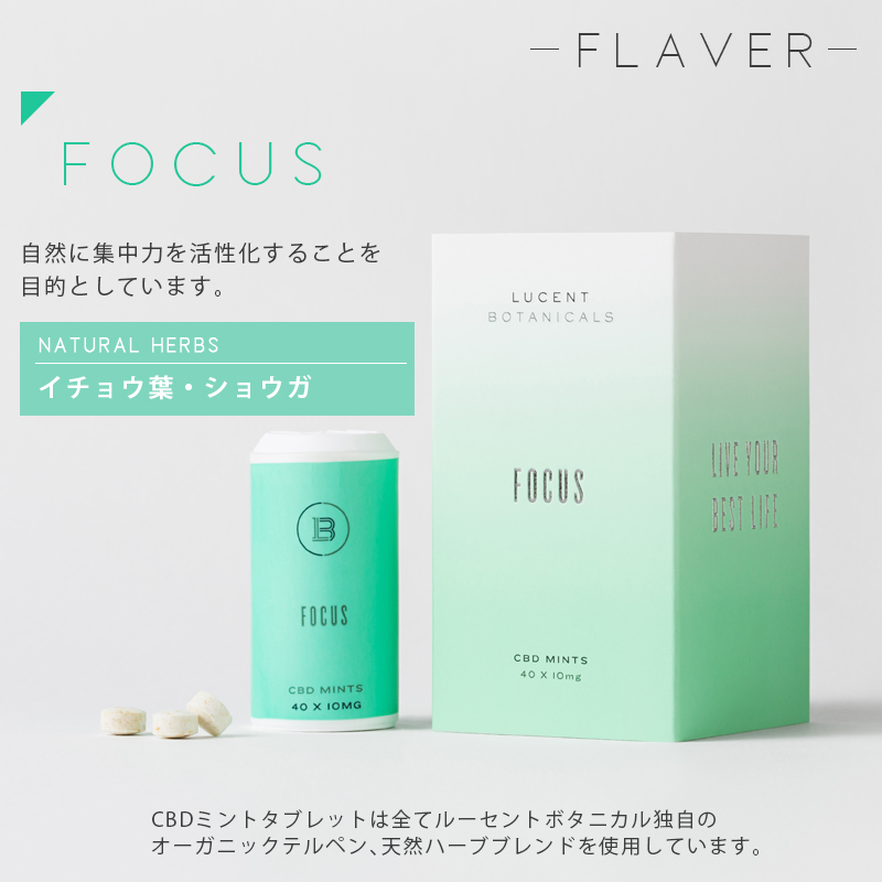 LUCENT BOTANICALS CBD MINTS タブレット 1粒 10mg  40粒