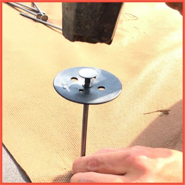 防草シート用 固定ピン 各種サンプル J字型アンカー1本、U字型アンカー1本、固定釘1本 全国送料無料 ( スマートレター)