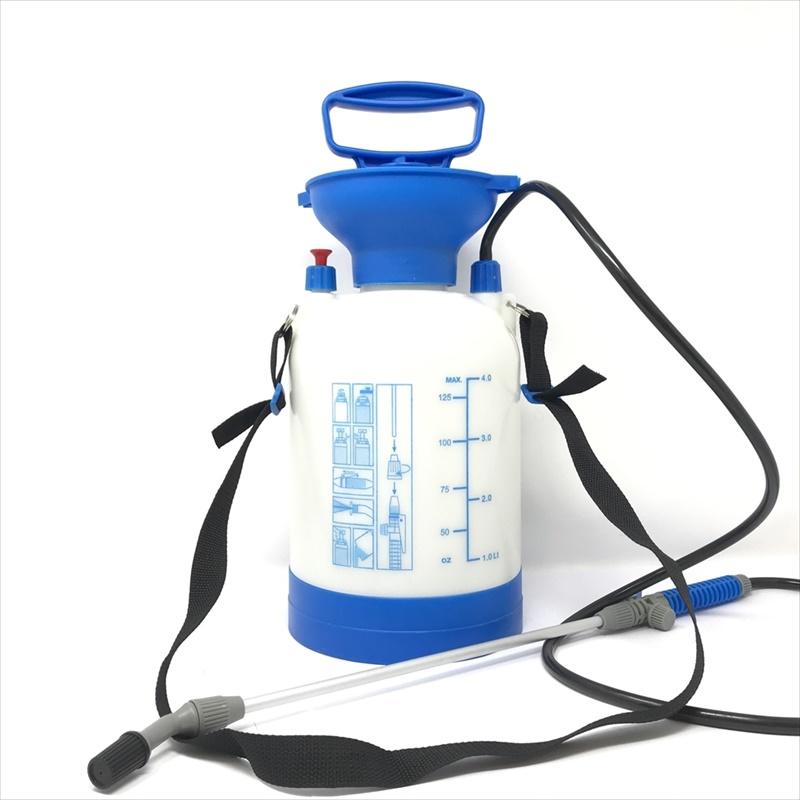 噴霧器4L 蓄圧式肩掛けタイプ 除草剤・殺菌剤・殺虫剤・の散布