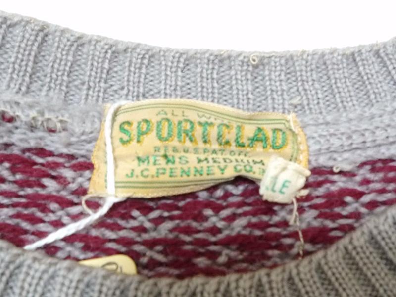 40〜50's SPORTCLAD  セーター 雪・鹿柄