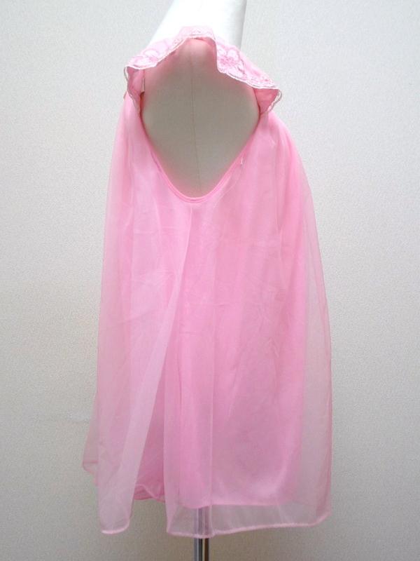 70's シフォンランジェリー ピンク