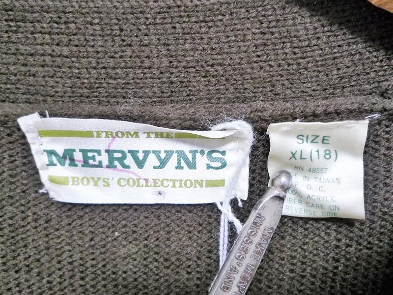 70〜80's MERVYN'S カーディガン