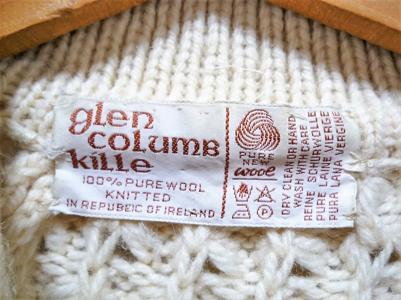 80's Glen Columb Kille アランニットカーディガン