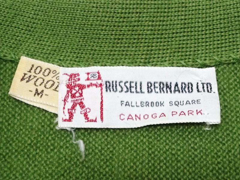 70's RUSSELL BERNARD カーディガン
