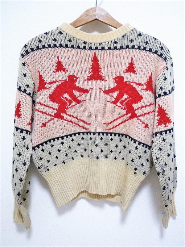 40〜50's SAMANTHA'S スキー&ノルディック柄セーター