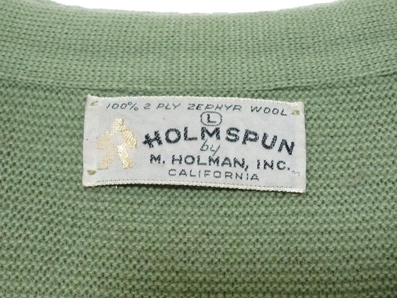 60〜70's HOLMSPUN カーディガン
