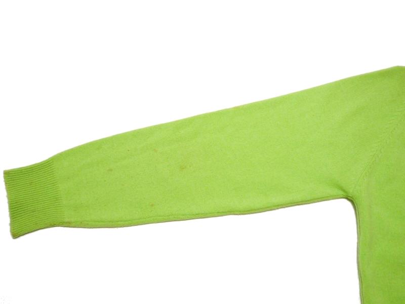 70's FULLY FASHIONED カーディガン 黄緑