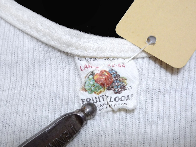 70〜80's FRUIT OF THE LOOM 白無地 タンクトップ