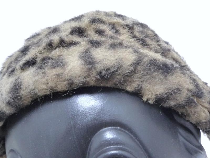 ヒョウ柄ファー ヘアバンド帽