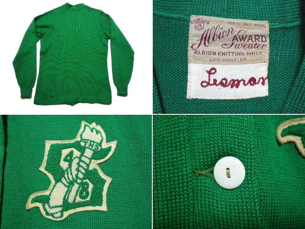 40's Albion Sweater レタードカーディガン