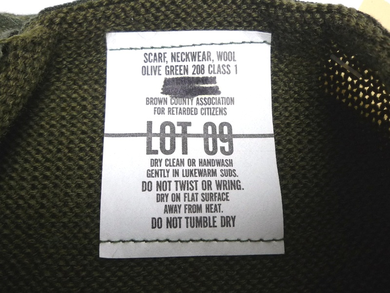 90's SCARF NECKWEAR 米軍マフラー