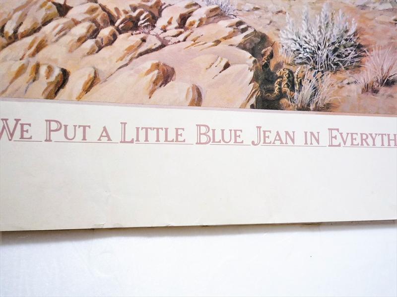 1979年 Levi's We Put a Little Blue Jean in Everything We Make ポスター