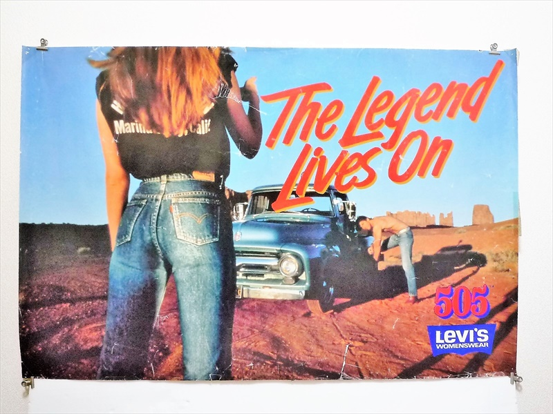 70〜80's Levi's505 The Legend Lives On ポスター