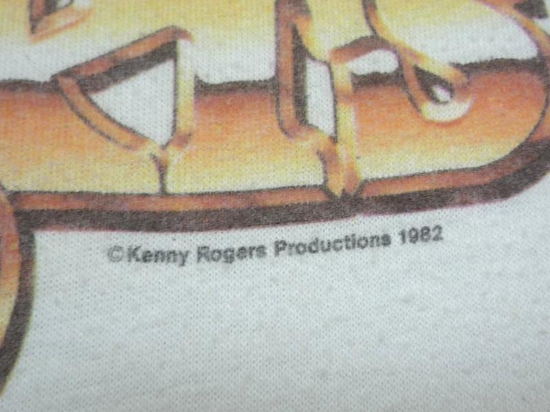 1982年 Kenny Rogers 七分袖 ツアーT