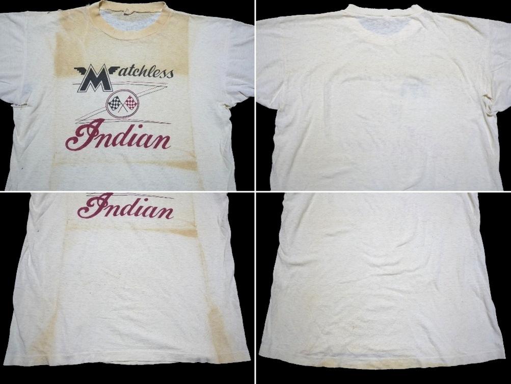 50's Indian&Matchless Champion ランタグ 染み込み
