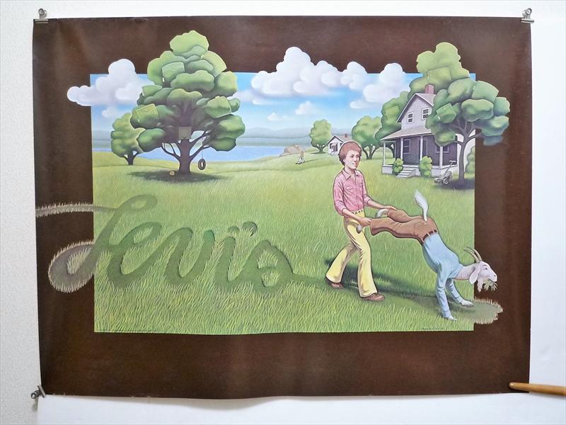 1976年 Levi's Goat Lawnmower ポスター