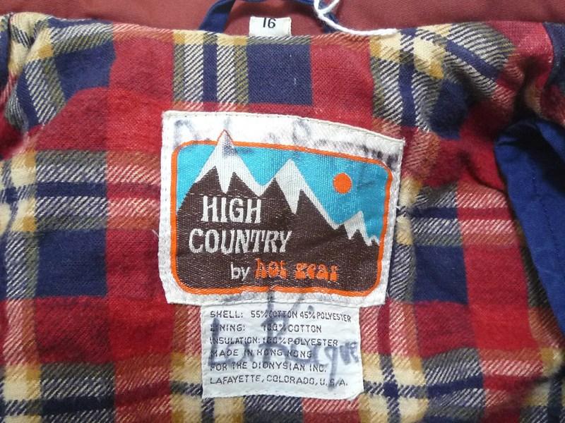 80's HIGH COUNTRY ダウンベスト