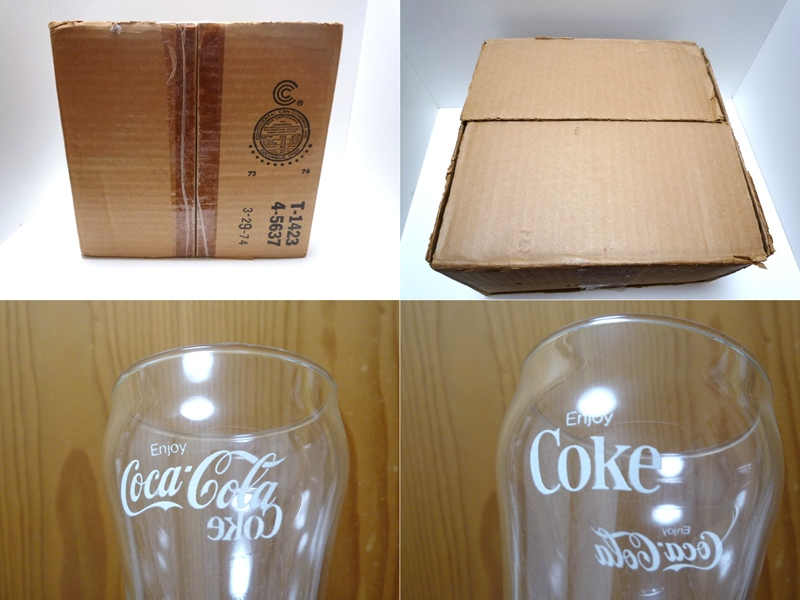 70's コカコーラ グラス 4個セット