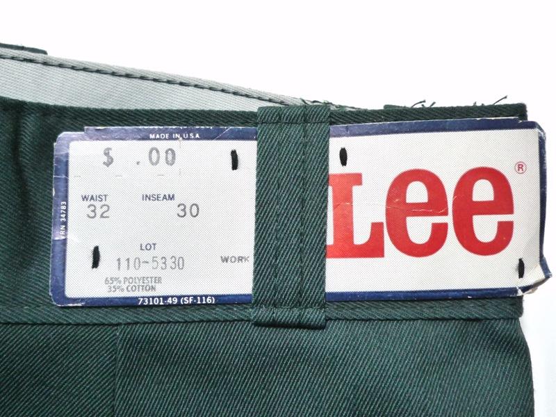 70's Lee Chetopa Twill 緑 W32 L30