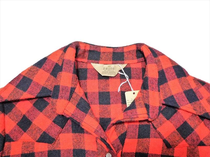 70's PRIOR ウエスタン ウールシャツ