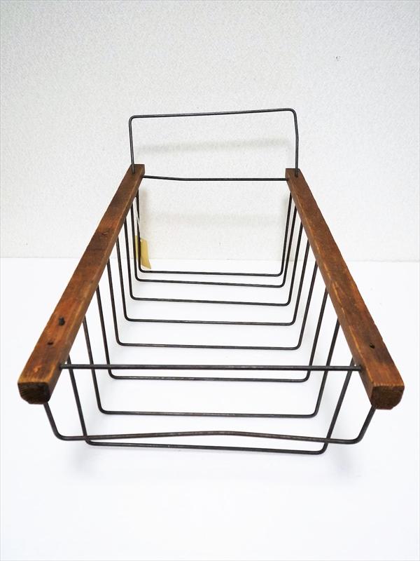 ワイヤーラック 木製×スチール製