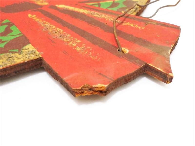 ヴィンテージ クリスマスリース 木製サイン
