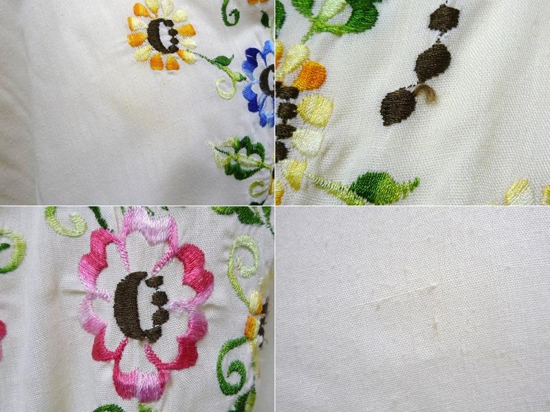 70's 花柄刺繍 チュニック