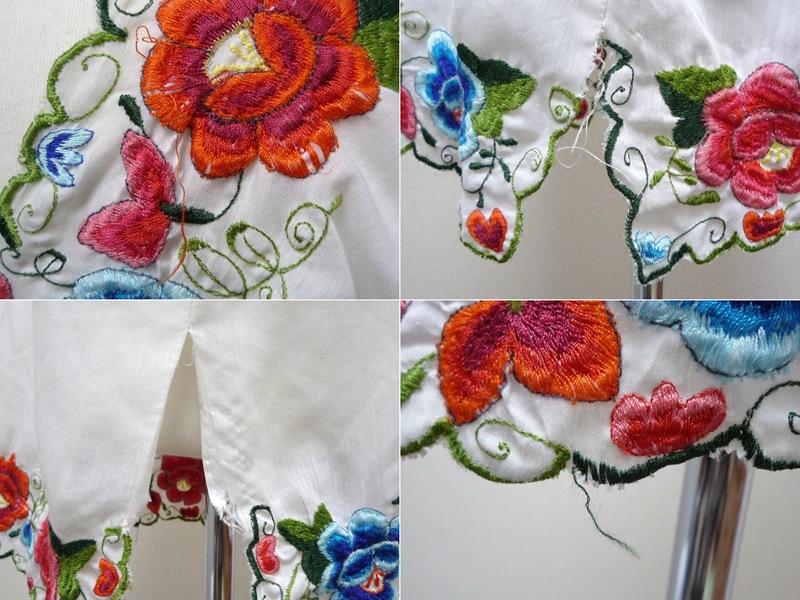 花柄刺繍 チュニック