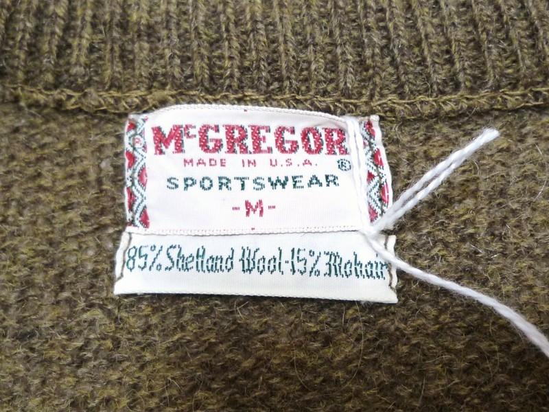 70's McGREGOR Vネックモヘアセーター