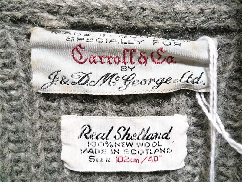 60's carroll&co ショールカラー カーディガン
