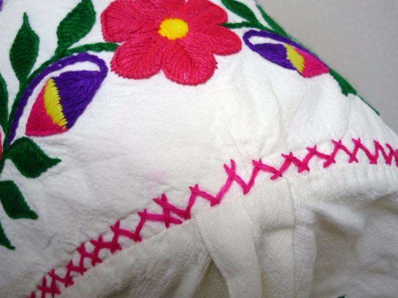 花柄刺繍 ヒッピーチュニック