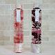 ハーバリウム丸瓶(円柱)ロングボトル 『ピンク・パープル(2本セット)』 西陣織リボン付き