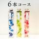 【定額レンタル】2か月/6本コース ハーバリウム しずく瓶 角瓶 ピンク グリーン ブルー