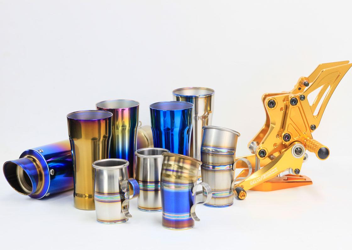 【チタン製カップ バンブー】 鈴鹿から世界へ届けるチタンマフラー技術  マーベリックの傑作品カップシリーズ