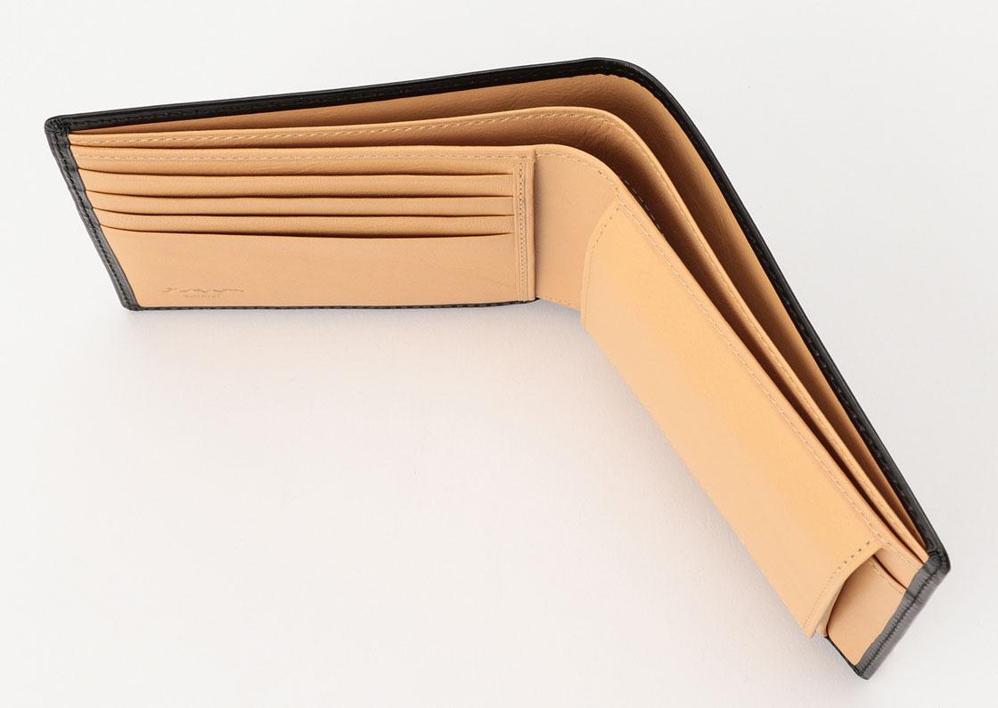 松阪牛革 財布(小銭入れ付) 硯 さとりナチュラル