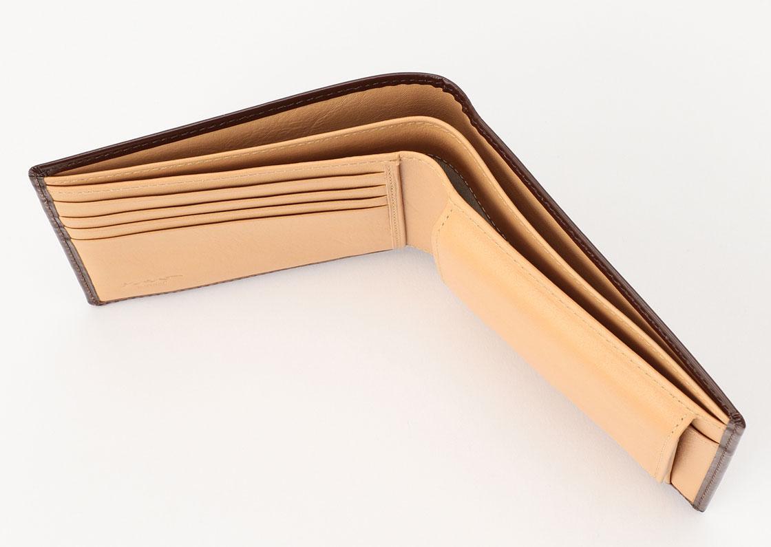 松阪牛革 財布(小銭入れ付) 豊土 さとりナチュラル