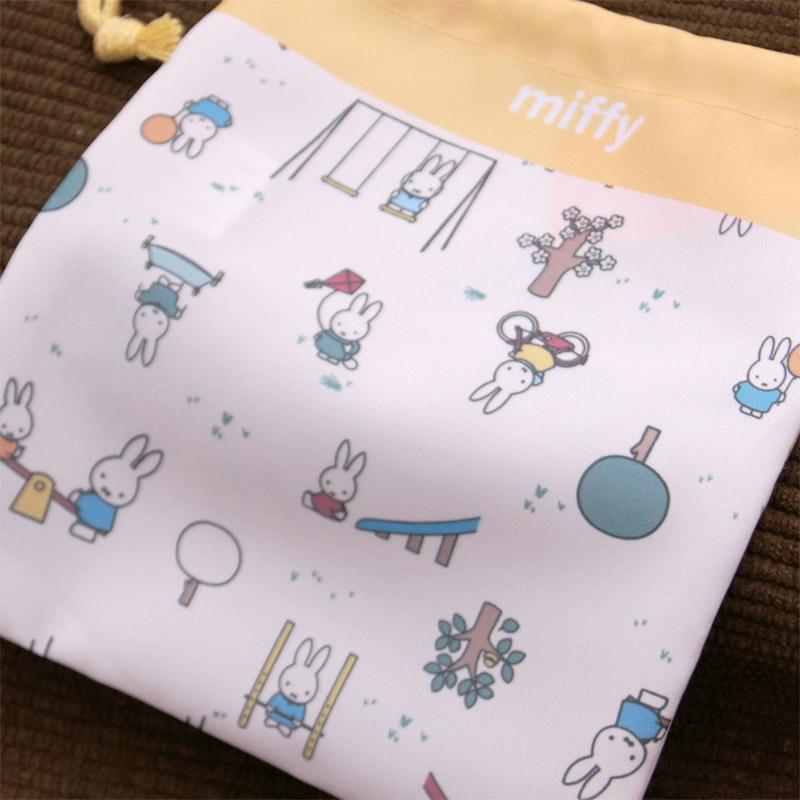 [BN1161CR-1] ミッフィー きんちゃく袋 (小) こうえんあそび [miffy][Dick Bruna]