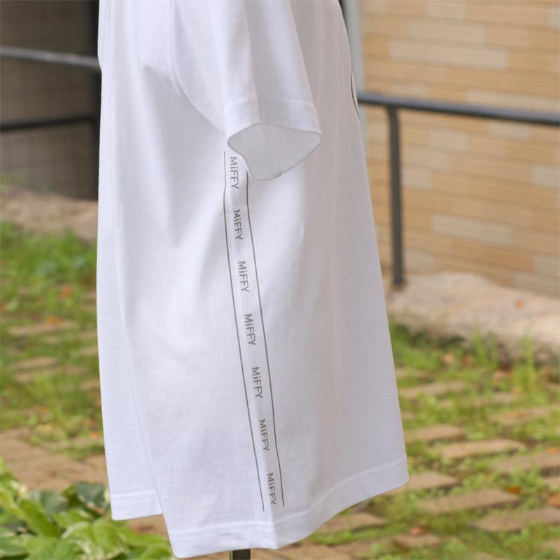 [MF-6127] 半袖Tシャツ ミッフィー サイドライン ホワイト [miffy][Dick Bruna]