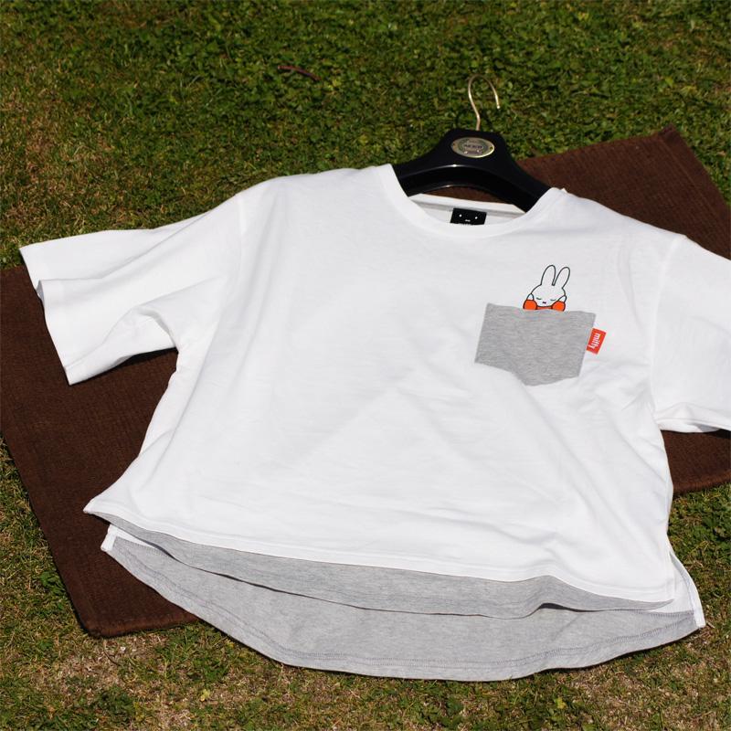 [MF-5101] ミッフィー レイヤード風TシャツA ホワイト [miffy][Dick Bruna]