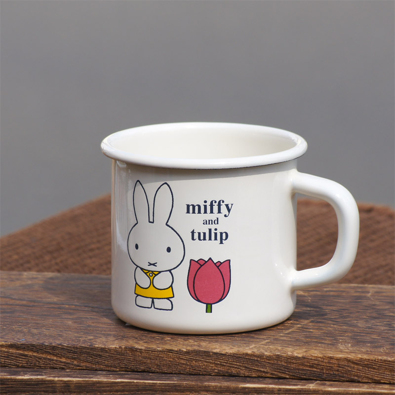 [MFTU-7MG.Y] ミッフィー ホーロー7cmマグ チューリップ イエロー [miffy][Dick Bruna][琺瑯]