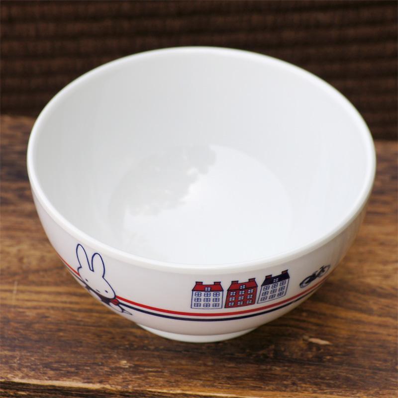 [CM-2D] ミッフィー メラミン子供食器 汁椀230ml 65thダッチモチーフ [miffy][Dick Bruna]