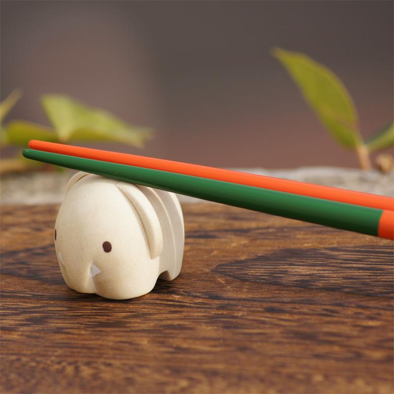 [208572] ブルーナ・アニマル 木製箸置き ぞう [miffy][Dick Bruna]