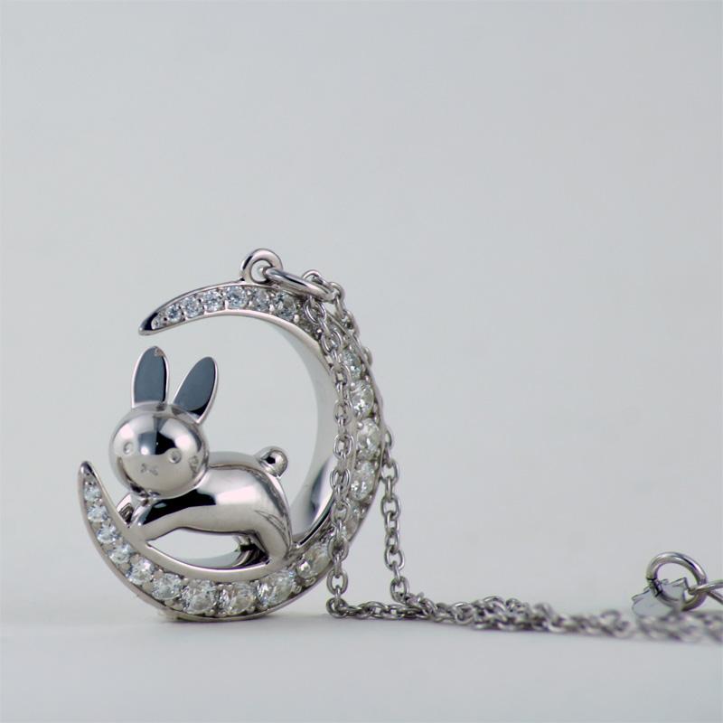 銀座天賞堂×miffyhouse Dick Bruna 月とうさぎと星のペンダント [Ginza Tenshodo][miffy][fs][wf]