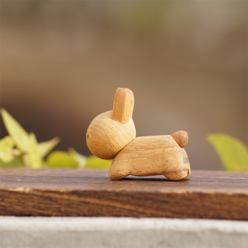 [208571] ブルーナ・アニマル 木製箸置き うさぎ ブラウン [miffy][Dick Bruna]