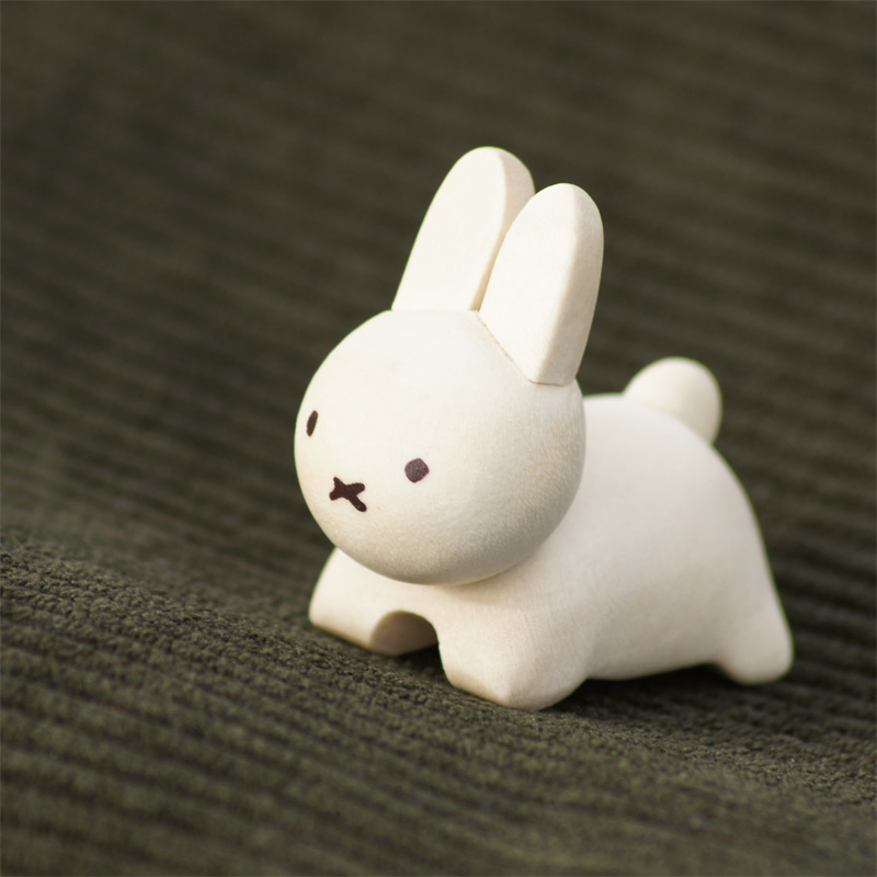 [208570] ブルーナ・アニマル 木製箸置き うさぎ ホワイト [miffy][Dick Bruna]