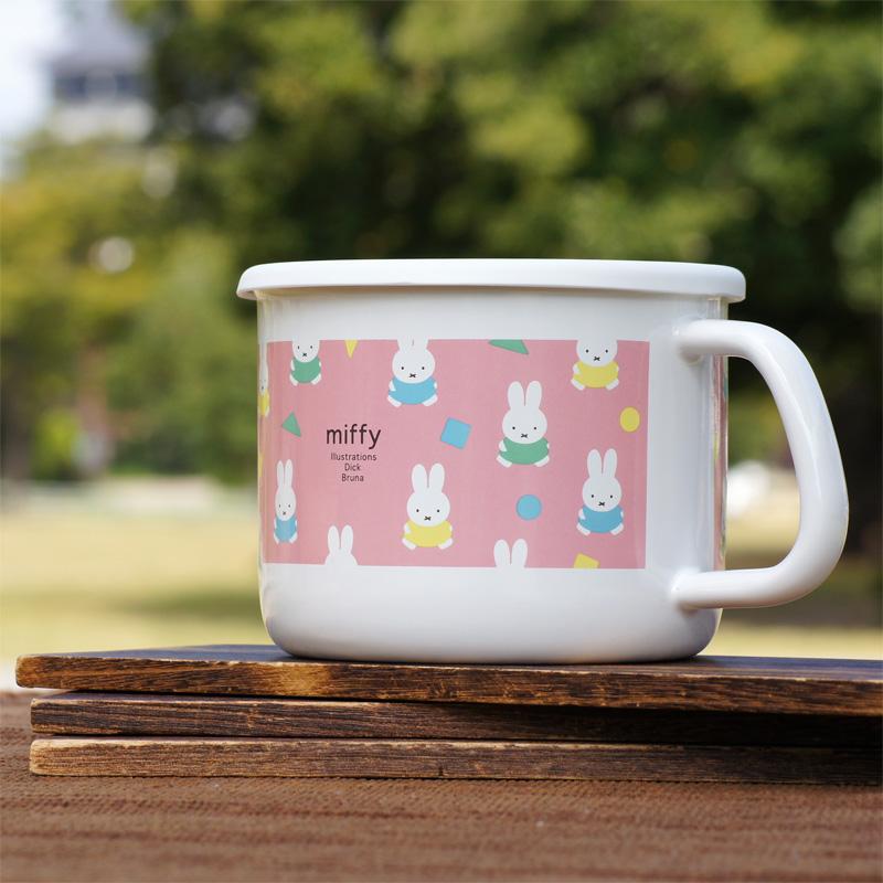[MF21-14MP.P] ミッフィー 14cmストックポット オータムカラー ピンク [miffy][Dick Bruna][琺瑯]