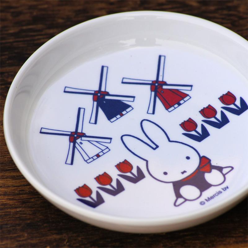 [M-8D] ミッフィー メラミン子供食器 丸小皿 65thダッチモチーフ [miffy][Dick Bruna]