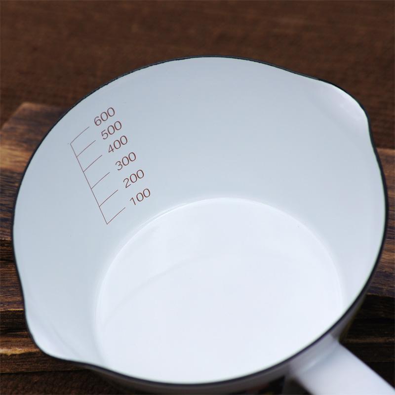 [MF21-14M.G] ミッフィー 14cmミルクパン オータムカラー 水玉 [miffy][Dick Bruna][琺瑯]
