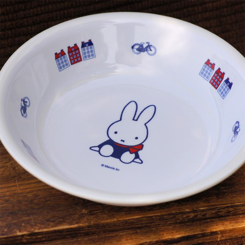 [M-1305D] ミッフィー メラミン子供食器 深皿 65thダッチモチーフ [miffy][Dick Bruna]
